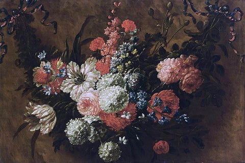 Jan-Baptist Bosschaert Garland of Flowers - Hand Painted Oil Painting