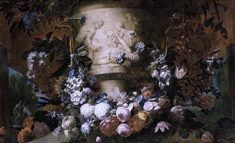 The Younger Gaspar Pieter Verbruggen Garland of Flowers - Hand Painted Oil Painting