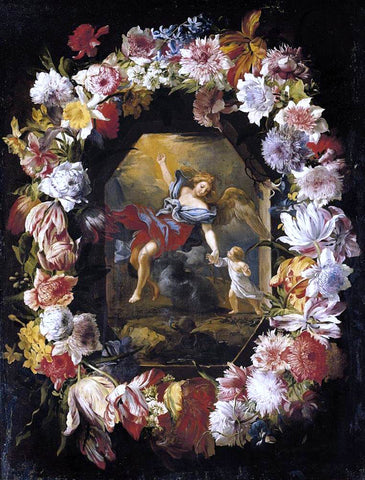 Abraham Brueghel Garland of Flowers - Hand Painted Oil Painting