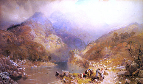 Junior Thomas Miles Richardson Gate Crag, Borrowdale, Cumberland - Hand Painted Oil Painting