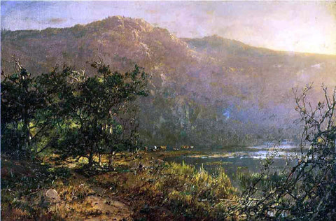 William Louis Sonntag Gathering at Sundown - Hand Painted Oil Painting