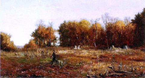 Jervis McEntee Gathering Autumn Leaves - Hand Painted Oil Painting