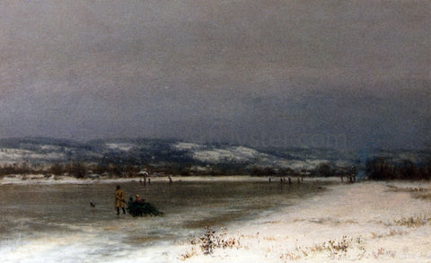 Jervis McEntee Gathering Christmas Finery at Roundout, New Jersey - Hand Painted Oil Painting