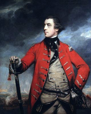 Sir Joshua Reynolds General John Burgoyne - Hand Painted Oil Painting