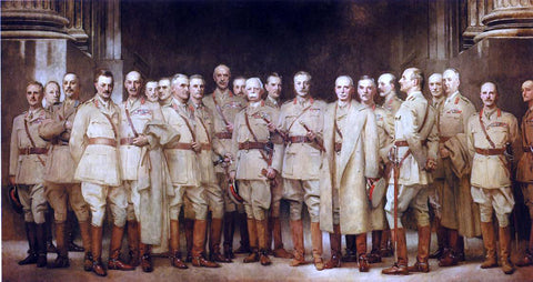 John Singer Sargent General Officers of World War I - Hand Painted Oil Painting