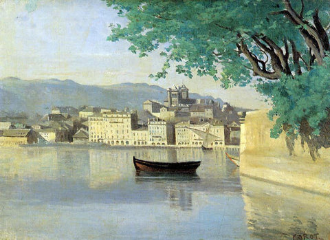 Jean-Baptiste-Camille Corot Geneva - View of Part of the City - Hand Painted Oil Painting