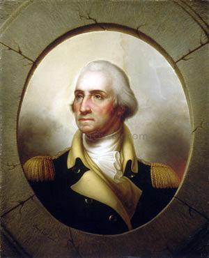 Rembrandt Peale George Washington - Hand Painted Oil Painting