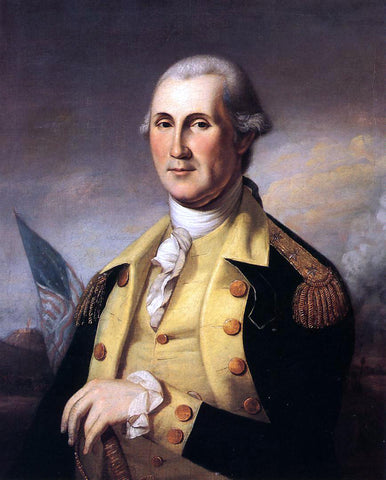 James Peale George Washington - Hand Painted Oil Painting