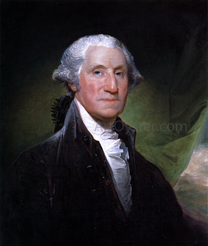 Gilbert Stuart George Washington (The Gibbs-Channing-Avery Portrait) - Hand Painted Oil Painting