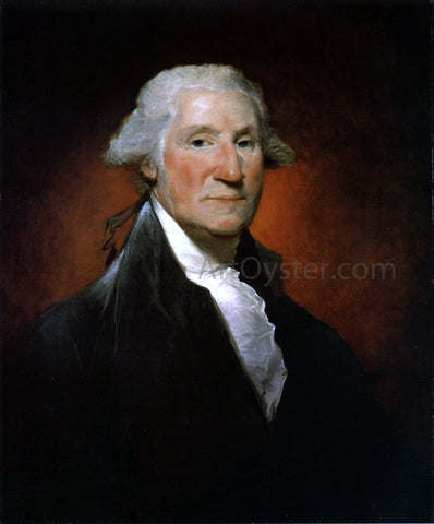 Gilbert Stuart George Washington (The Vaughan Portrait) - Hand Painted Oil Painting