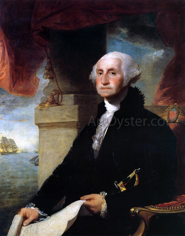 Gilbert Stuart George Washington(The Constable-Hamilton Portrait) - Hand Painted Oil Painting