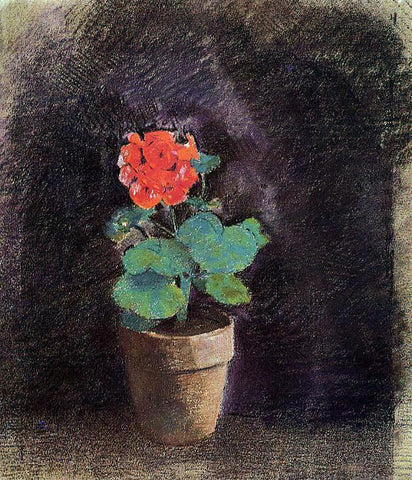 Odilon Redon Geranium - Hand Painted Oil Painting