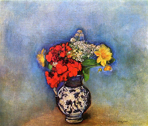 Odilon Redon Geraniums - Hand Painted Oil Painting