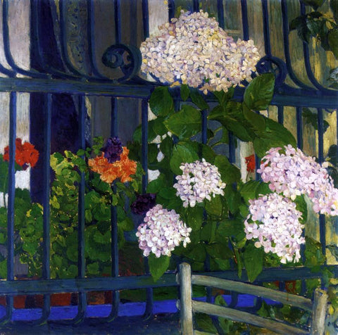 Koloman Moser Geraniums - Hand Painted Oil Painting