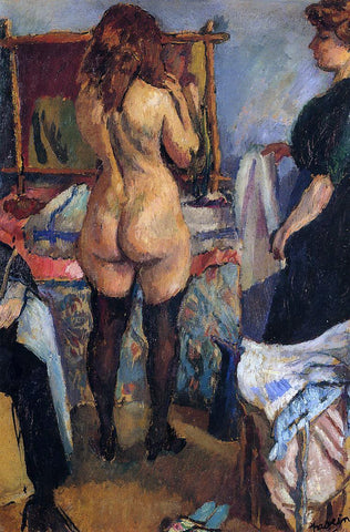 Jules Pascin Getting Dressed - Hand Painted Oil Painting