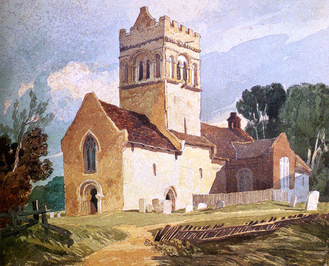 John Sell Cotman Gillingham Church, Norfolk - Hand Painted Oil Painting