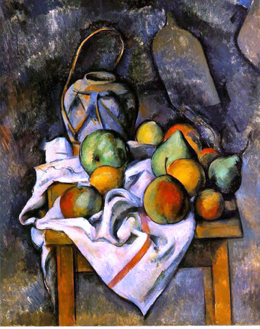 Paul Cezanne A Ginger Jar and Fruit - Hand Painted Oil Painting