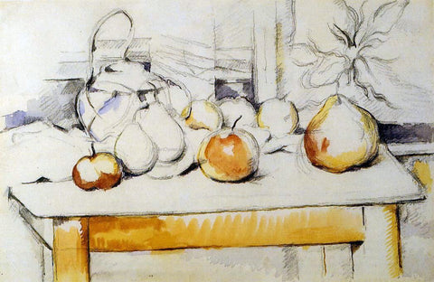 Paul Cezanne Ginger Jar and Fruit on a Table - Hand Painted Oil Painting