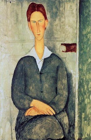 Amedeo Modigliani Giovanotto dai Capelli Rosse - Hand Painted Oil Painting