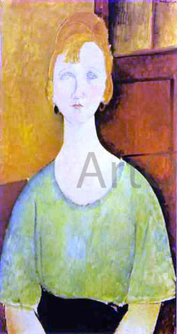 Amedeo Modigliani Girl in a Green Blouse - Hand Painted Oil Painting