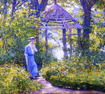 Guy Orlando Rose A Girl in a Wickford Garden, New England - Hand Painted Oil Painting
