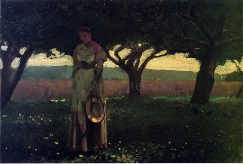 Winslow Homer Girl in the Orchard - Hand Painted Oil Painting
