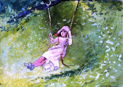 Winslow Homer Girl on a Swing - Hand Painted Oil Painting