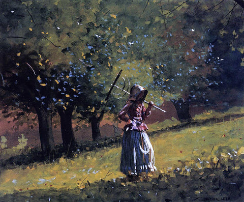 Winslow Homer Girl with a Hay Rake - Hand Painted Oil Painting