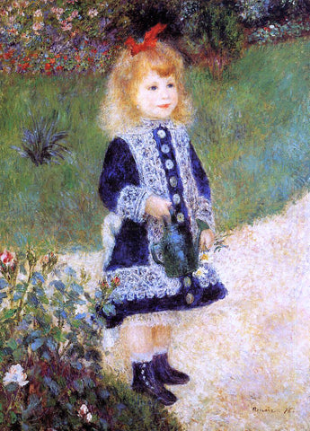 Pierre Auguste Renoir A Girl with a Watering Can - Hand Painted Oil Painting