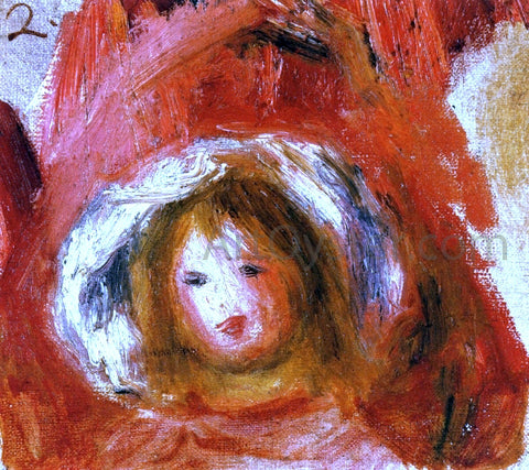 Pierre Auguste Renoir Girl with Hat - Hand Painted Oil Painting