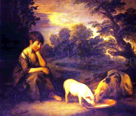 Thomas Gainsborough Girl with Pigs - Hand Painted Oil Painting