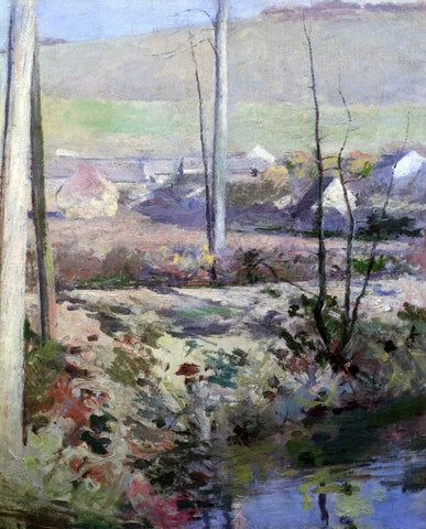 Theodore Robinson Giverny from the River Epte - Hand Painted Oil Painting
