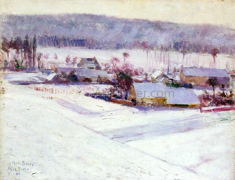 John Leslie Breck Giverny Winter - Hand Painted Oil Painting
