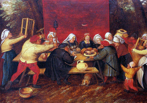 The Younger Pieter Bruegel Giving Presents at a Wedding - Hand Painted Oil Painting