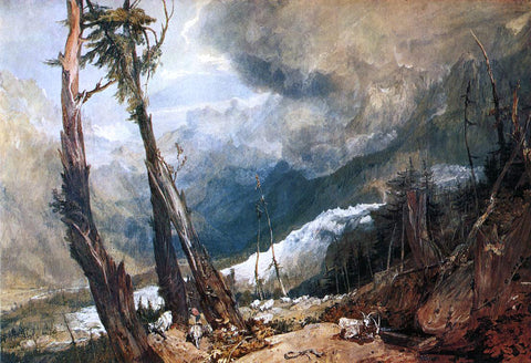 Joseph William Turner Glacier and Source of the Arveron, Going Up to the Mer de Glace - Hand Painted Oil Painting