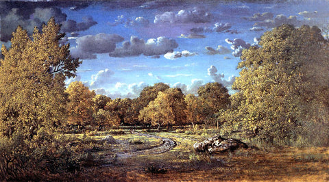 Theodore Rousseau Glade of the Reine Blanche in the Fontainebleau Forest - Hand Painted Oil Painting