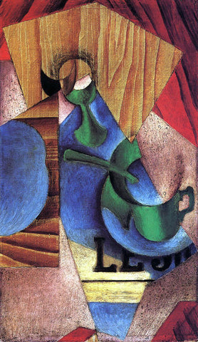 Juan Gris Glass, Cup and Newspaper - Hand Painted Oil Painting