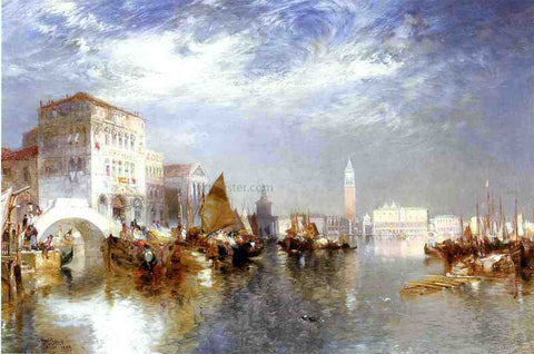 Thomas Moran Glorious Venice - Hand Painted Oil Painting