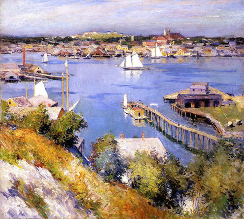 Willard Leroy Metcalf Gloucester Harbor - Hand Painted Oil Painting
