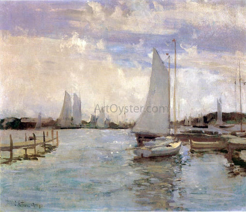 John Twachtman Gloucester Harbor - Hand Painted Oil Painting