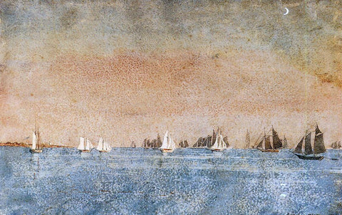 Winslow Homer Gloucester Harbor, Fishing Fleet - Hand Painted Oil Painting