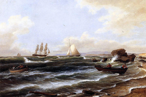 Thomas Birch Going Ashore - Hand Painted Oil Painting