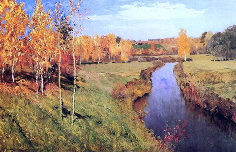 Isaac Ilich Levitan Golden Autumn - Hand Painted Oil Painting