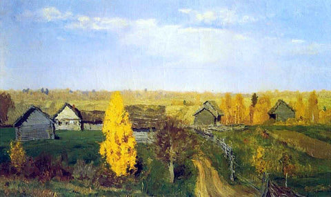Isaac Ilich Levitan Golden Autumn, Village - Hand Painted Oil Painting