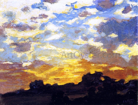 Edward Potthast Golden Sunset - Hand Painted Oil Painting