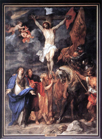 Sir Antony Van Dyck Golgotha - Hand Painted Oil Painting