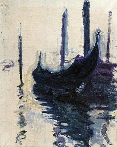 Claude Oscar Monet Gondola in Venice - Hand Painted Oil Painting
