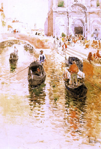 Frederick Childe Hassam Gondoliers - Hand Painted Oil Painting