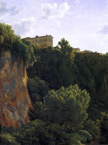 Jean-Joseph-Xavier Bidauld Gorge at Civita Castellana - Hand Painted Oil Painting