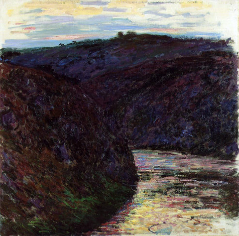 Claude Oscar Monet Gorge of the Creuse - Hand Painted Oil Painting